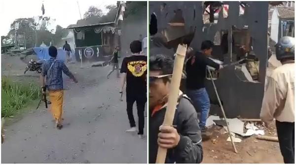 Heboh Markas Ormas di Perbatasan Sukabumi-Cianjur Dirusak Massa