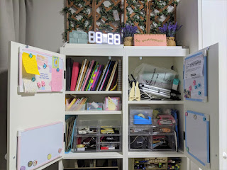 Silveran High Cabinet used as book and stationery storage