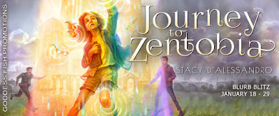 Goddess Fish tour banner for Journey to Zentobia