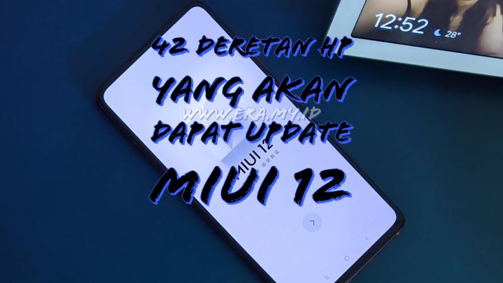 HP yang Akan Dapat Update MIUI 12