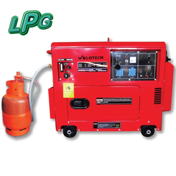 เครื่องยนต์ปั่นไฟ 5,000วัตต์ (2ระบบ LPG/เบนซิน)