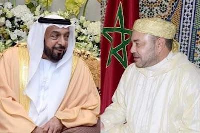 برقية تهنئة من جلالة الملك إلى رئيس دولة الإمارات العربية المتحدة