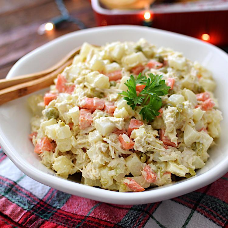 Receta para preparar ensalada de gallina