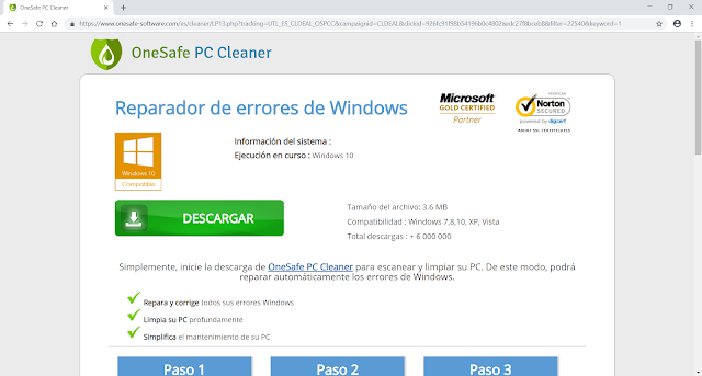 Redirecciones a Onesafe-software.com