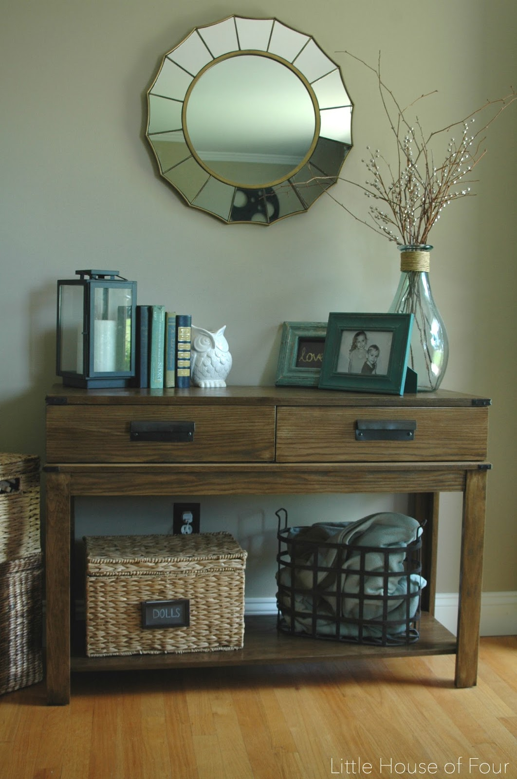 West Elm inspired console table
