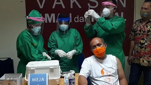 Orang Pertama di Pangkalpinang Mendapat Vaksinasi Covid -19