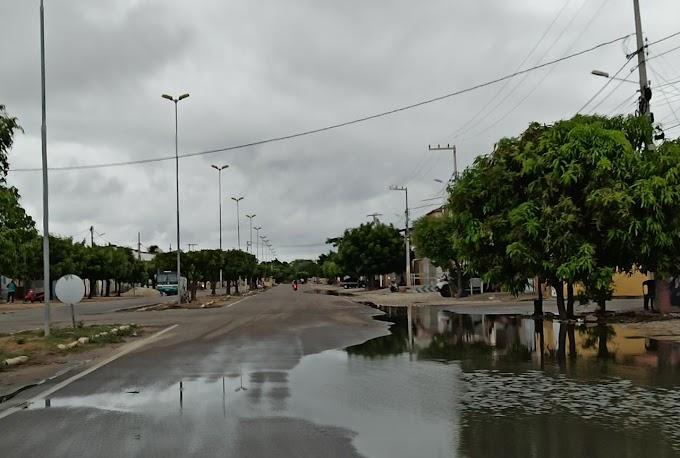 Inmet emite alerta de chuvas intensas em Grossos, Tibau, Areia Branca e outros 22 municípios do RN