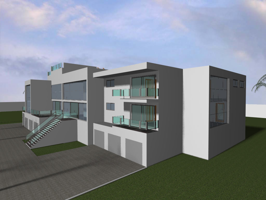 The gallery for --> Modern Mansions Front View