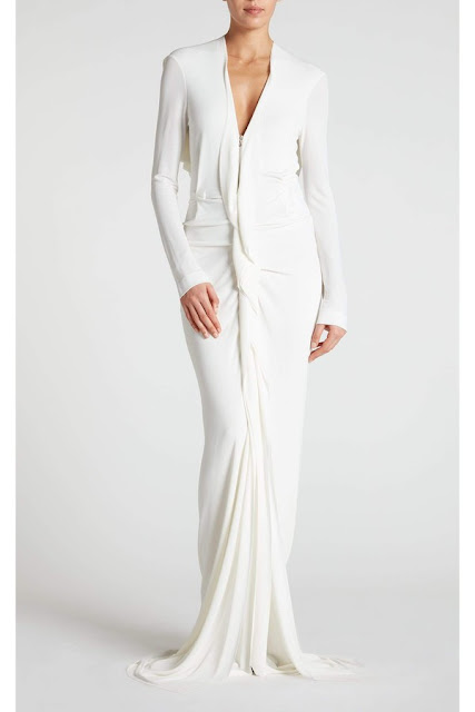 K'Mich Weddings - wedding planning - wedding dresses - white ruffle dress with long sleeves crepe - roland mouret