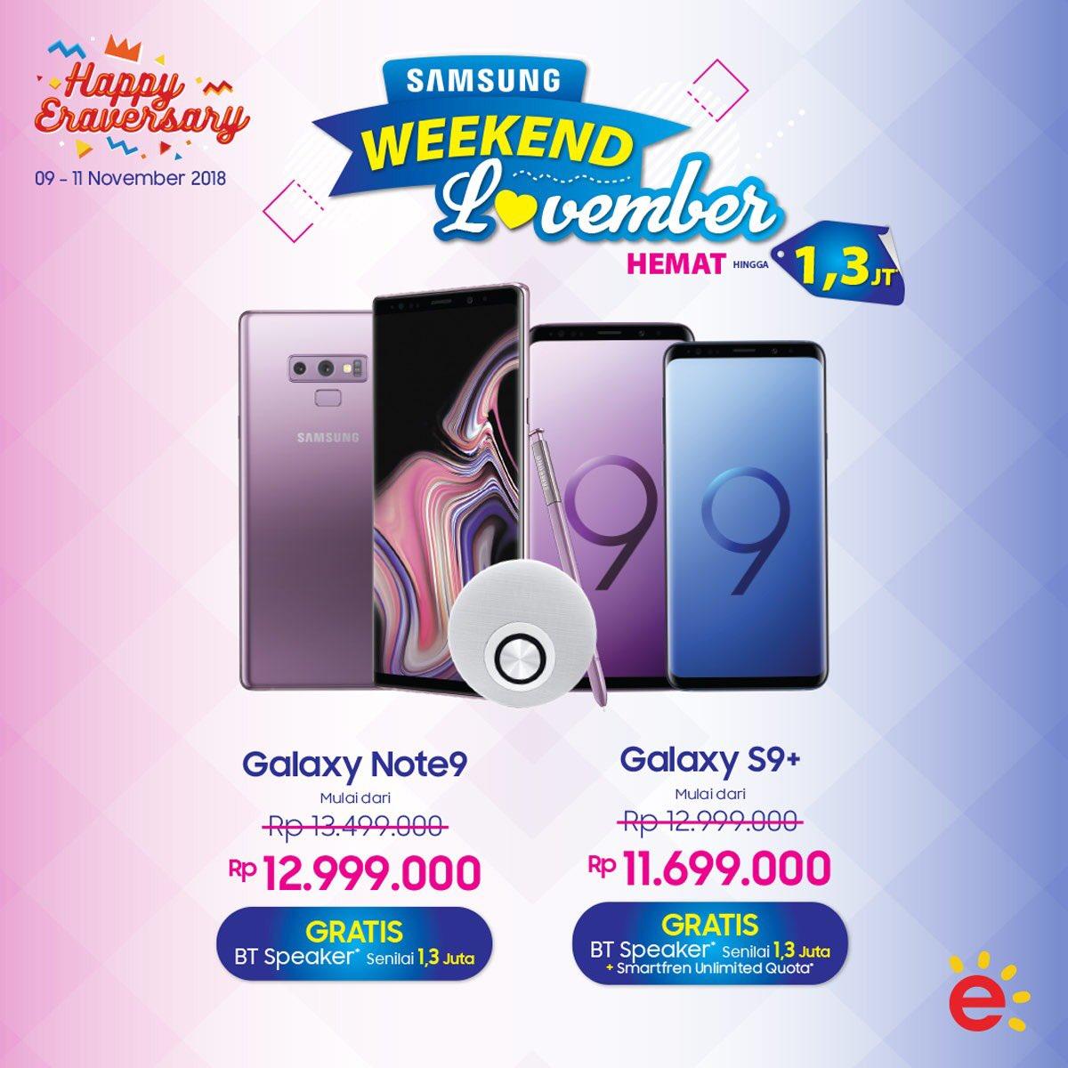 Transmart - Promo Samsung Weekend Lovember Hemat & Gratis (s.d 11 Nov 2018)