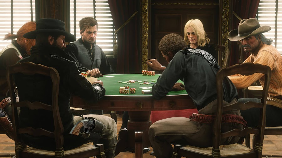 red dead online update rockstar games ps4 xb1 hold 'em poker table