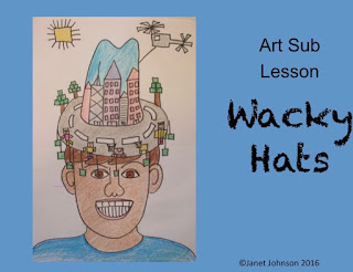 child drawing of a crazy hat