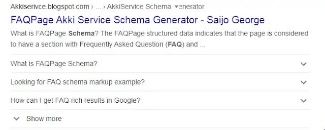 FAQ Schema Generator Tool - Akki Service