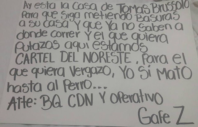 CDVictoria Narcomensaje del CDN y 2 ejecutados en Col. Mainero