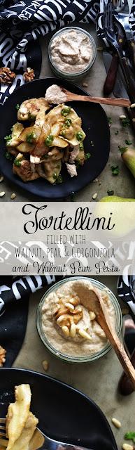 Tortellini gefüllt mit Walnüssen, Birne und Gorgonzola
