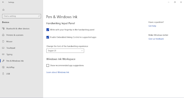 How to Disable and Enable Handwriting Panel in Windows 10