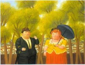 O Homem e a Mulher - Fernando Botero e suas pinturas ~ O pintor das figuras volumosas