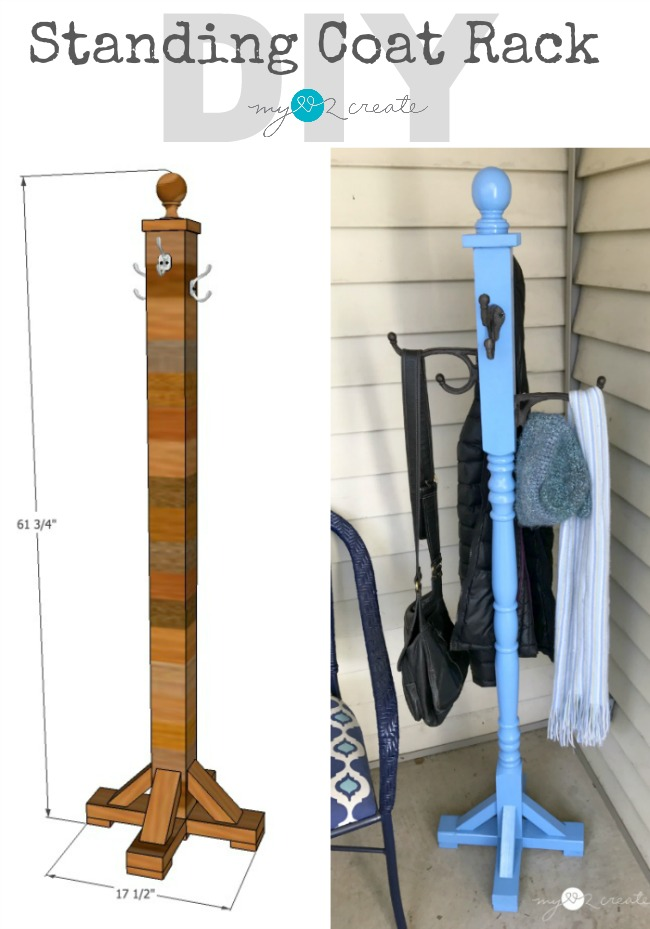 Standing Coat Rack My Love 40 Create Inspiration Making A Coat Rack