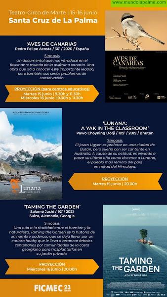 El Festival Internacional de Cine Medioambiental de Canarias llega esta semana a Santa Cruz de La Palma