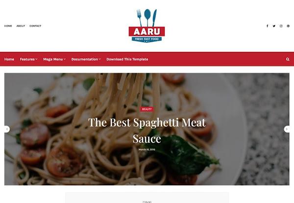 Aaru Blogger Template
