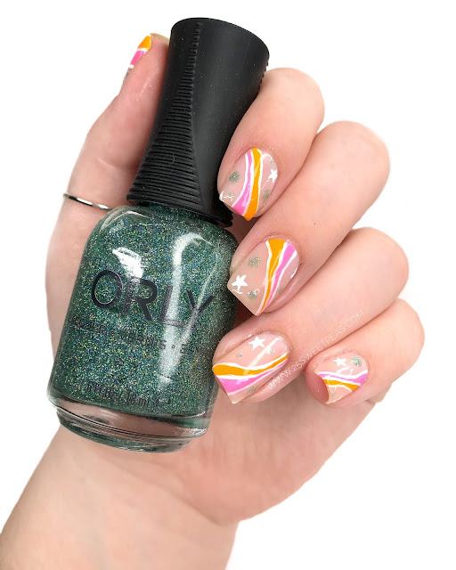 Abstract Summer Nail Art