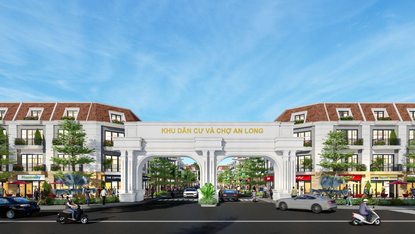 Phối cảnh cổng chào dự án Khu dân cư chợ An Long