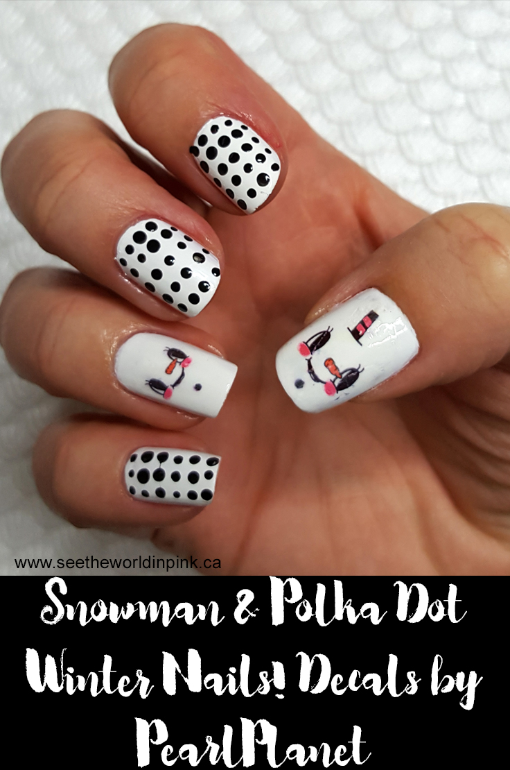 Manicure Monday - Snowman and Polka Dots!