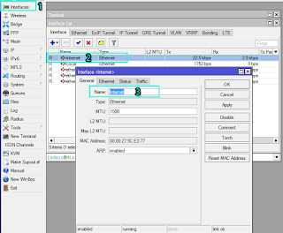 Interface Winbox