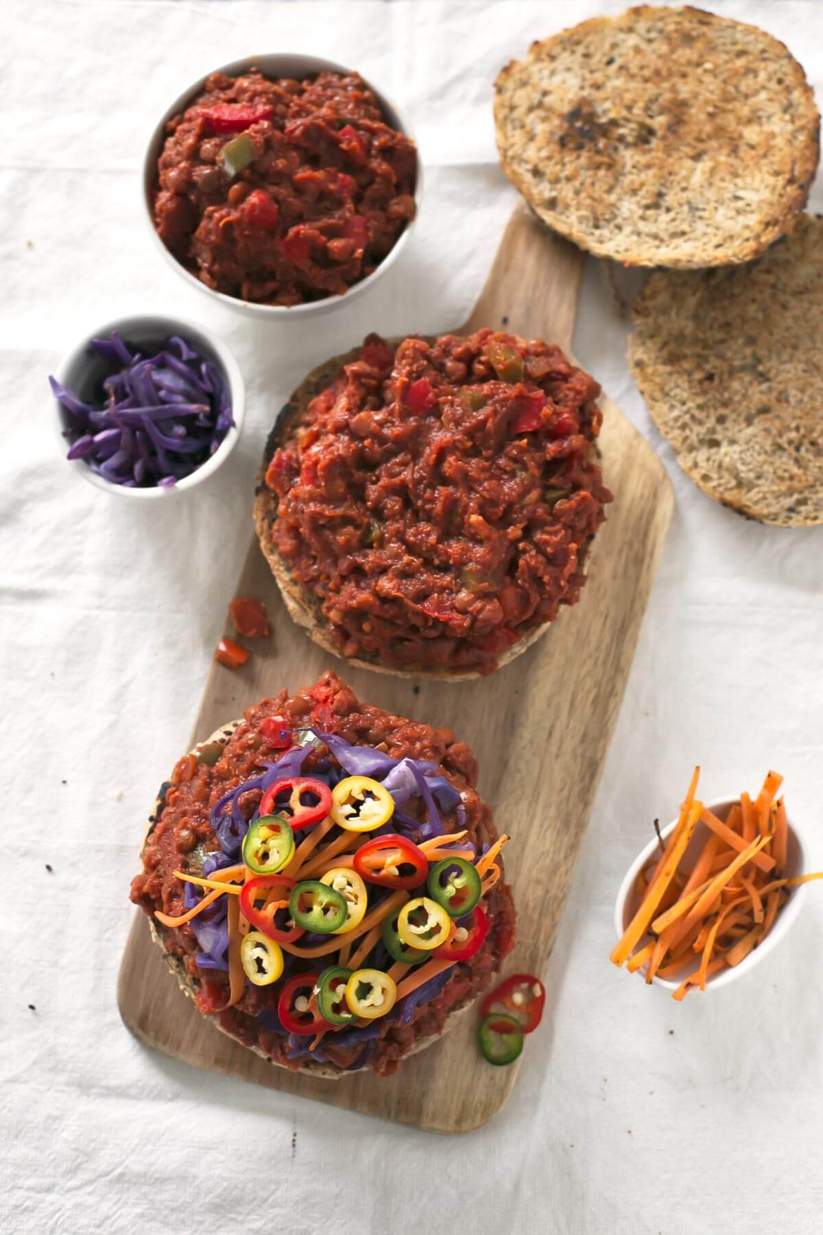Vegan Sloppy Joes.- Al Sloppy Joes is a typical sandwich from the United States, and this vegan version is one of the wealthiest recipes I have ever tried in my life.