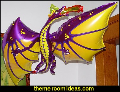 DRAGON BALLOON  medieval knights party props - castle theme party decorations - Medieval theme party decorating - Castle party props - princess party props - knight and princess costumes - Princess & Knight party ideas - Medieval wall decorating kit - harry potter party supplies - Medieval Birthday Party