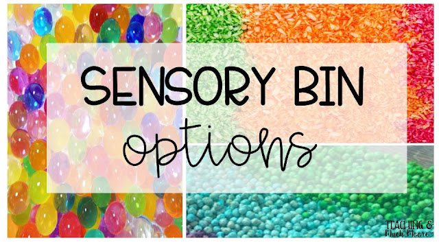 sensory bin options