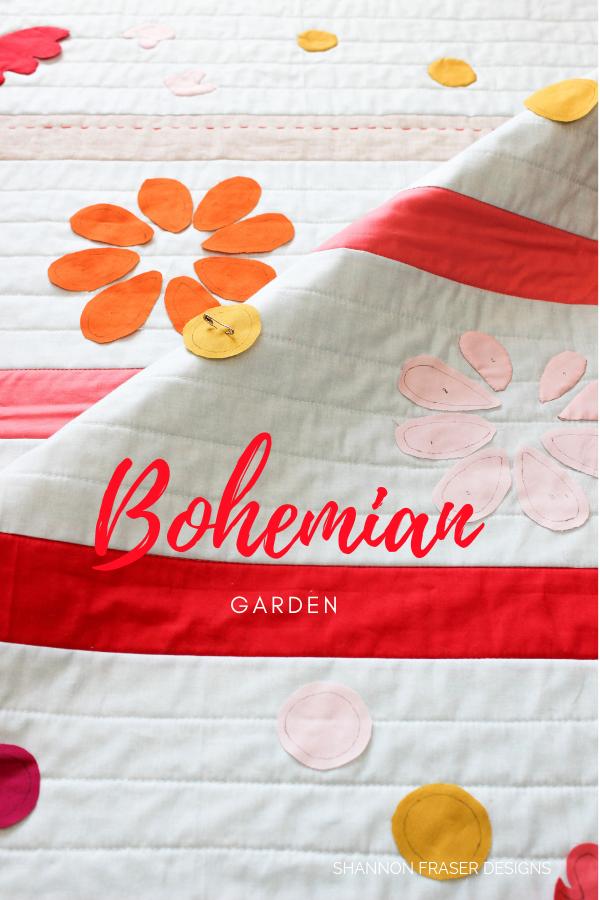 Bohemian Garden Quilt | Q3 Finish-a-Long | Shannon Fraser Designs #babyquilt