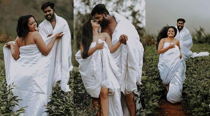 Semi-naked wedding photography Kerala