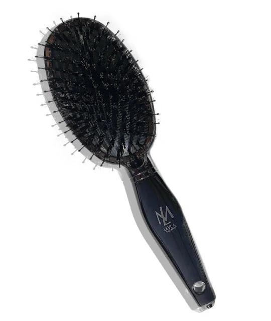 Black Edition vegan-boar-bristle-hair-brush cruelty-free boar bristle oval brush