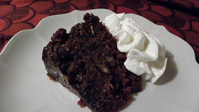 Persimmon Pudding with Cream