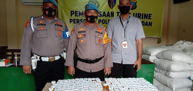 Test Urin Personel Polrestabes Medan