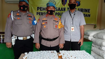 Setelah Test Urin 1 Personel Polrestabes Medan Positif Narkoba