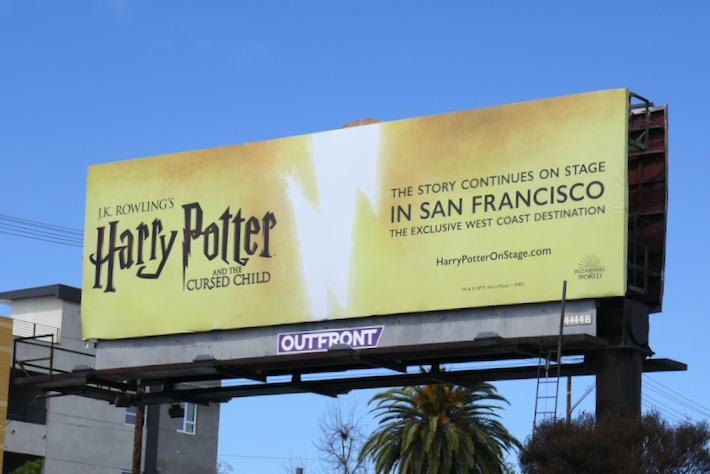 Harry Potter Cursed Child San Francisco billboard