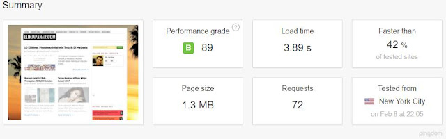 Website speed Elih Japahar
