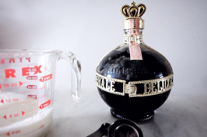 vintage chambord bottle and cream