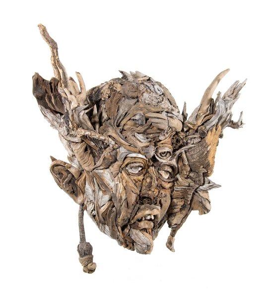 Bennett Ewing Eyevan Tumbleweed arte esculturas madeira galhos árvores encontrados surreal fantasia