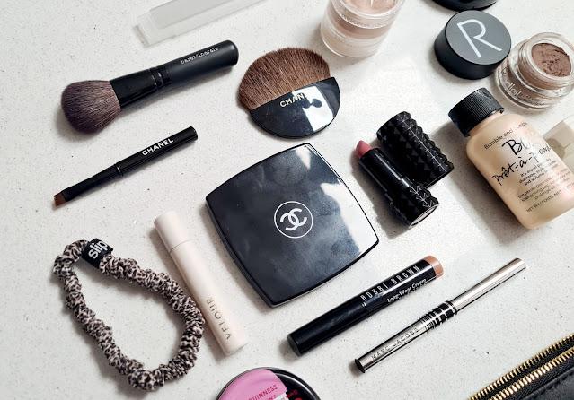 Travel size beauty mini makeup bag essentials