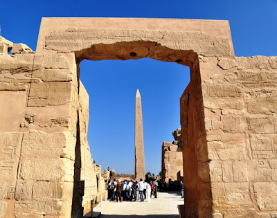 The obelisk of Hatshepsut at the Karnak Temple, Egypt