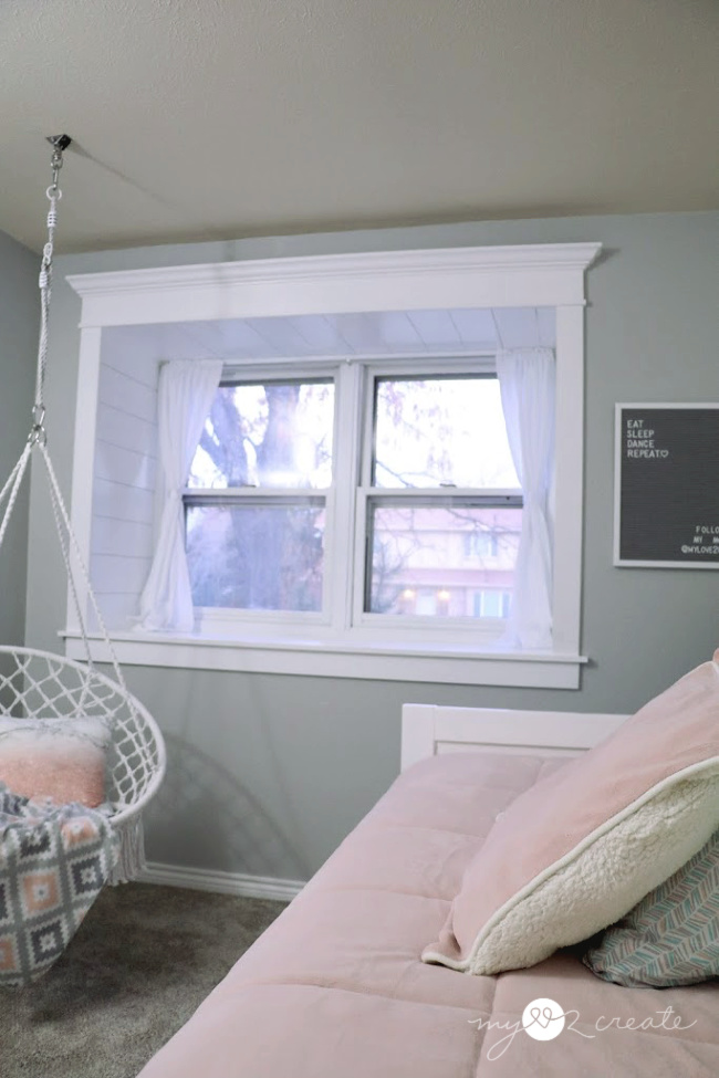 trim out a window add curtains