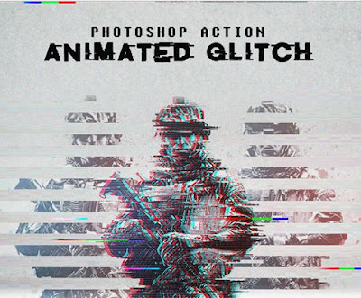 Action Animated Glitch Photoshop