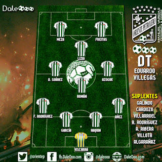 Alineación de Oriente Petrolero para enfrentar a San José - Fecha 19 Apertura 2017 - DaleOoo