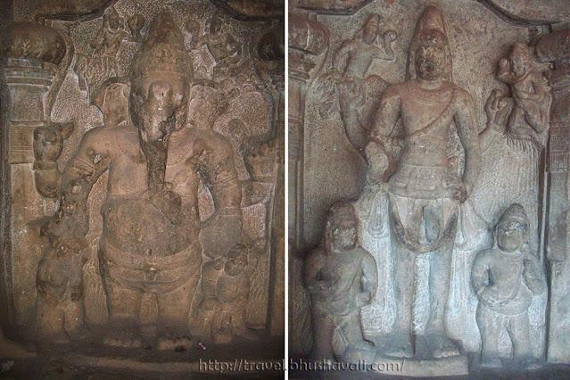 Ganesh & Karthikeya (Pillayar & Murugan) in Pandya Cave Temple, Trichy