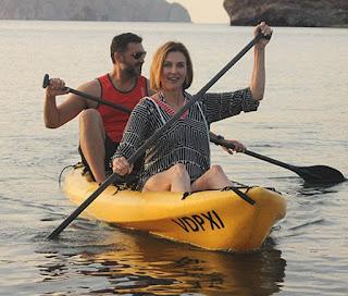 John Farmanesh-Bocca enjoying rafting with his wife Brenda