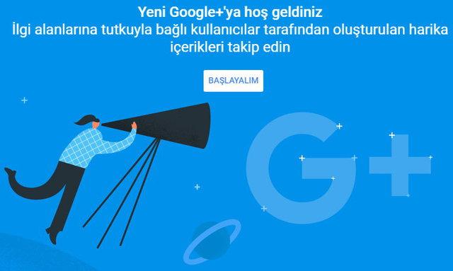Yeni Tasarım Google+'ya Geçme