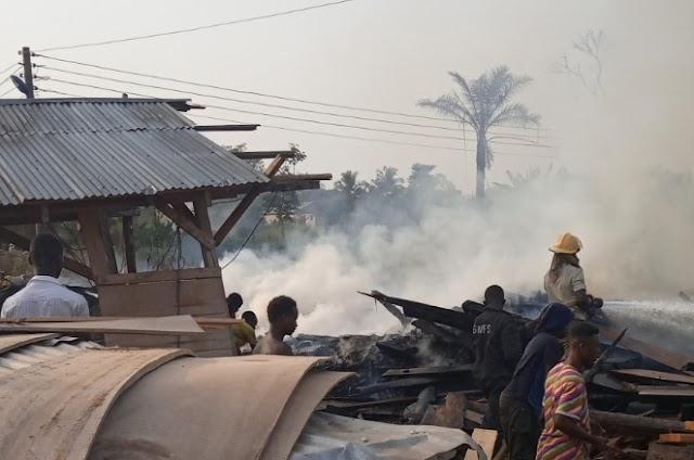 |SANKORE| Fire guts Maame U's Sawmill
